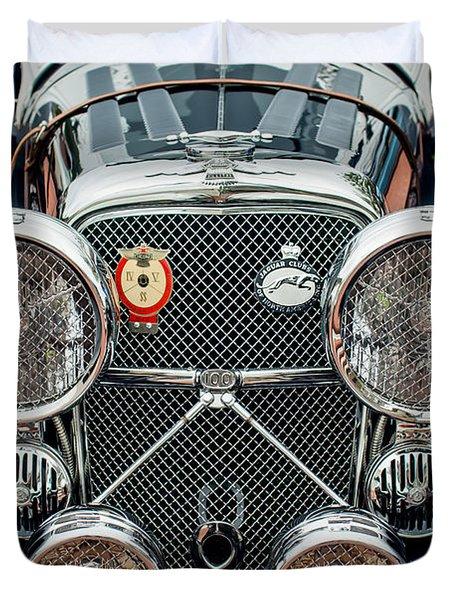 1950 Jaguar Xk120 Roadster Grille Duvet Cover by Jill Reger