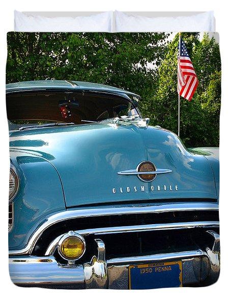 1950 Oldsmobile Duvet Cover