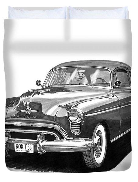 1950 Oldsmobile Rocket 88 Duvet Cover by Jack Pumphrey