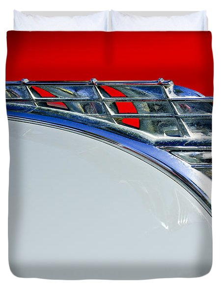 1950 Plymouth Hood Ornament 3 Duvet Cover