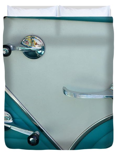 Duvet Cover featuring the photograph 1950's Chevy Interior by Dean Ferreira