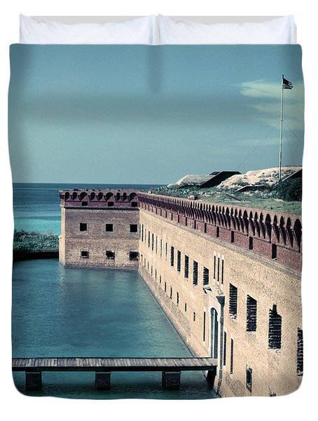 1950s Fort Jefferson Largest Masonry Duvet Cover