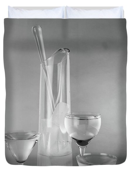 1950s Glass Martini Pitcher For Making Duvet Cover