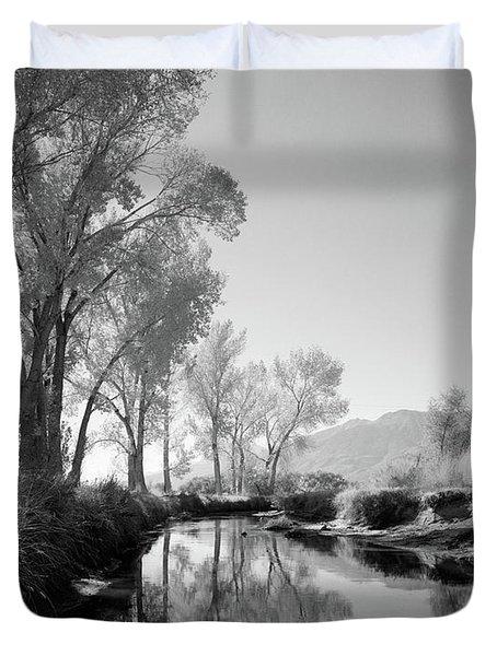 1950s Infra-red Image Peaceful Stream Duvet Cover