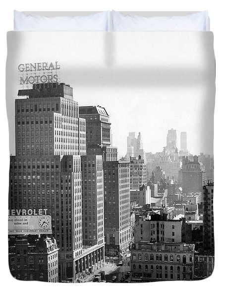 1950s Looking South At 61st Street Duvet Cover