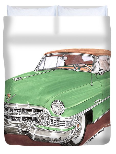 1951 Cadillac Series 62 Convertible Duvet Cover by Jack Pumphrey
