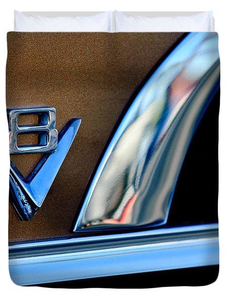 1951 Ford Crestliner V8 Emblem Duvet Cover by Jill Reger