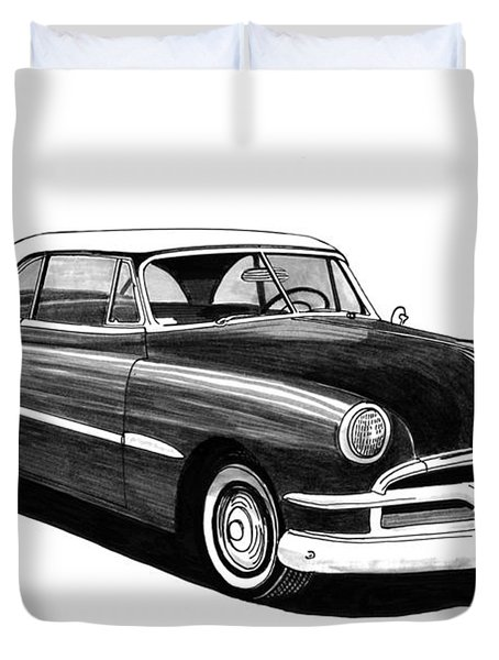 1951 Pontiac Hard Top Duvet Cover by Jack Pumphrey