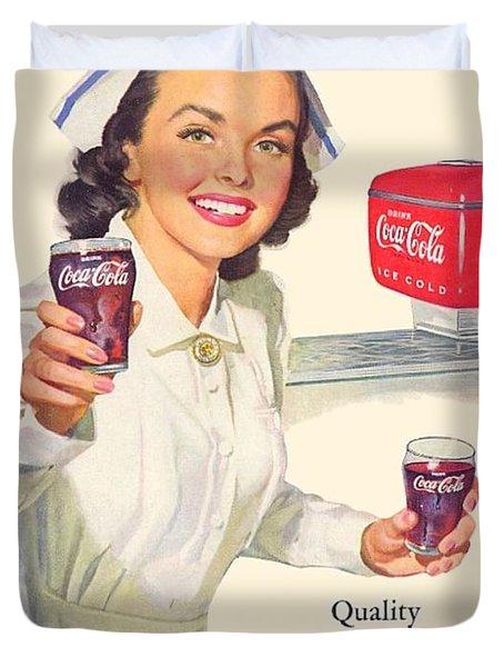 1952 - Coca-cola Advertisement - Color Duvet Cover
