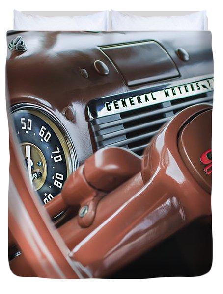 1952 Gmc Suburban Steering Wheel Emblem Duvet Cover