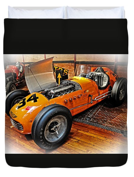 1952 Indy 500 Roadster Duvet Cover