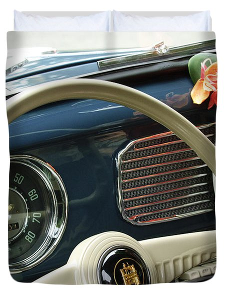 1952 Volkswagen Vw Bug Steering Wheel Duvet Cover