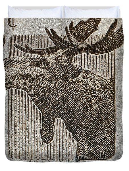 1953 Canada Moose Stamp Duvet Cover