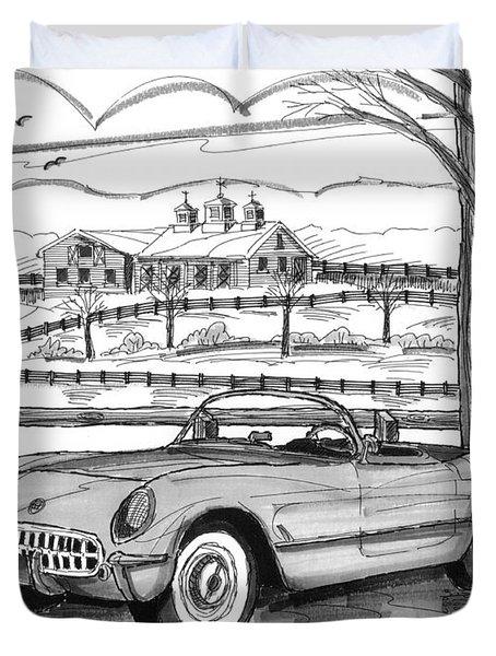 1953 Chevrolet Corvette Duvet Cover