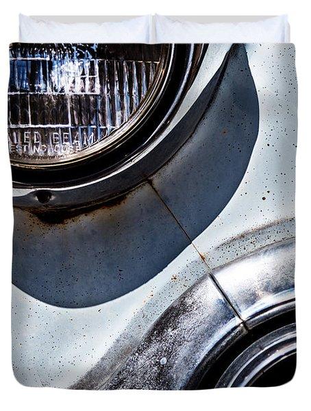1953 Chevy Headlight Detail Duvet Cover by  Onyonet  Photo Studios