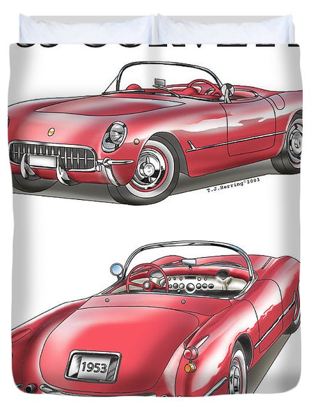 1953 Corvette Duvet Cover