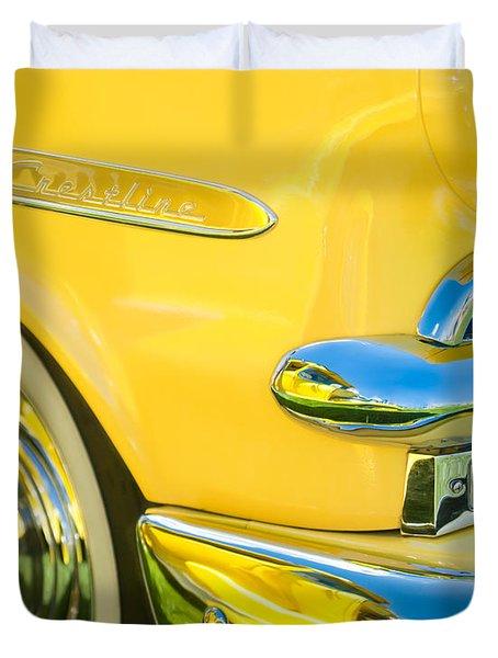 1953 Ford Crestline Convertible Emblem Duvet Cover by Jill Reger
