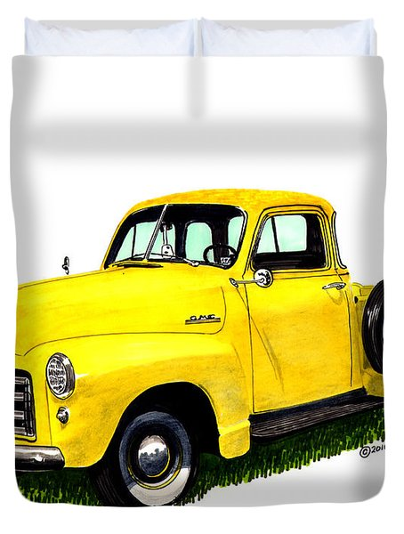 1953 G M C 5-window Pick-up Duvet Cover by Jack Pumphrey