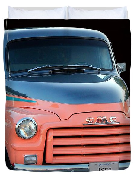 1953 Gmc Pick-up Duvet Cover by Davandra Cribbie