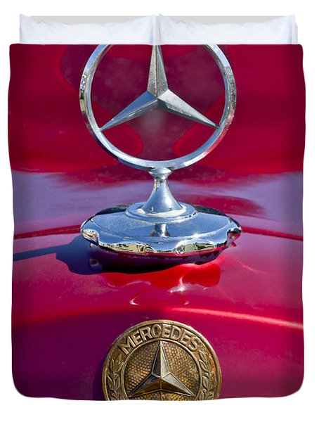 1953 Mercedes Benz Hood Ornament Duvet Cover