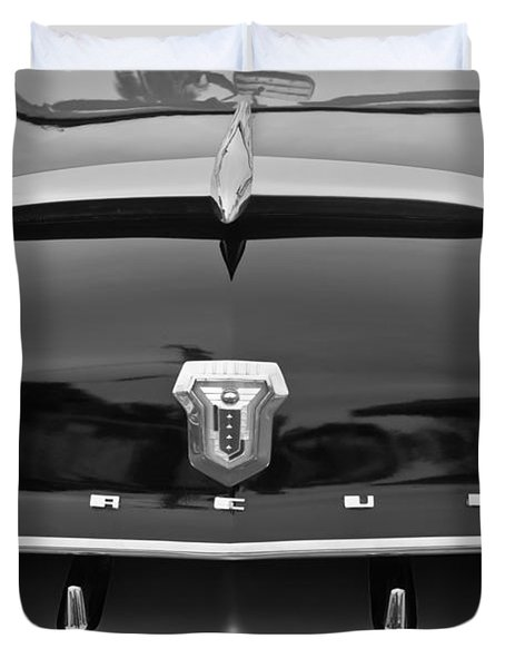 1953 Mercury Monterey Convertible Hood Ornament - Emblem Duvet Cover