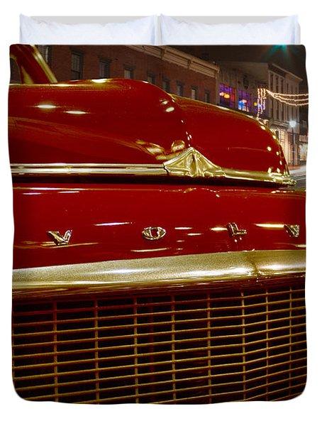 1953 Volvo Pv 444 Duvet Cover by Michael Porchik