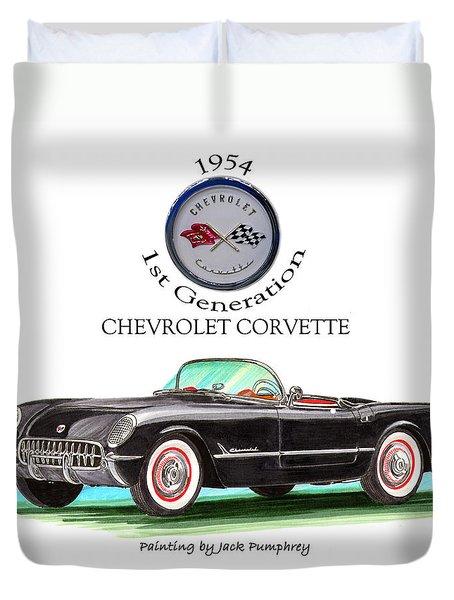 Corvette First Generation Duvet Cover by Jack Pumphrey