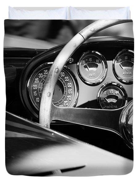 1954 Ferrari 500 Mondial Spyder Steering Wheel Emblem Duvet Cover