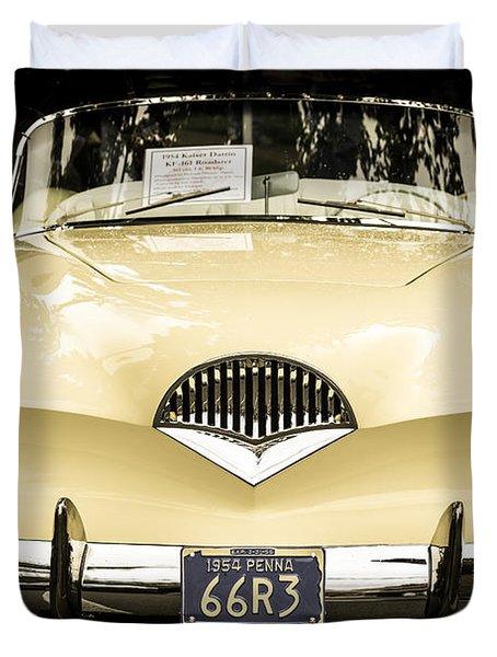 1954 Kaiser Darrin Kf-161 Roadster Duvet Cover by Ronda Broatch