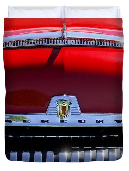 1954 Mercury Monterey Grille Emblem Duvet Cover