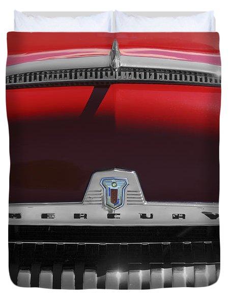 1954 Mercury Monterey Hood Ornament Duvet Cover