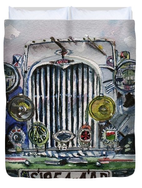 1954 Singer Car 4 Adt Roadster Duvet Cover