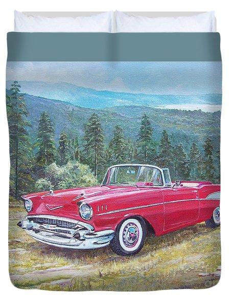 1955-1957 Chevrolet Bel Air Cabriolet Duvet Cover