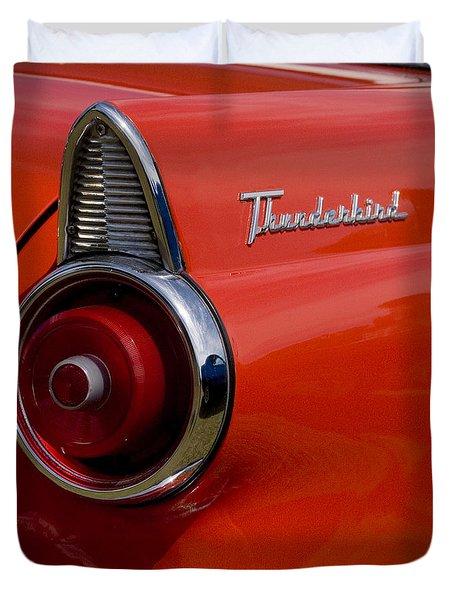 1955 427 Thunderbird Tail Light Duvet Cover