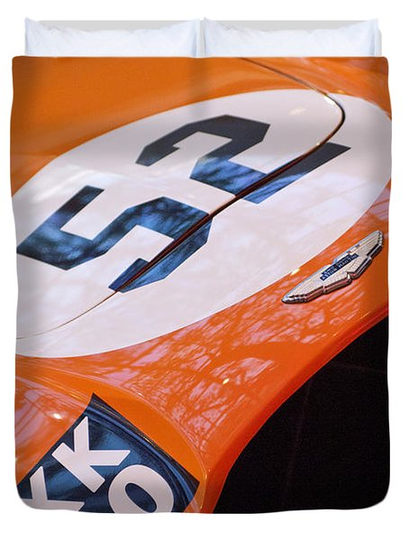 1955 Aston Martin Db3s Sports Racing Car Hood Duvet Cover by Jill Reger