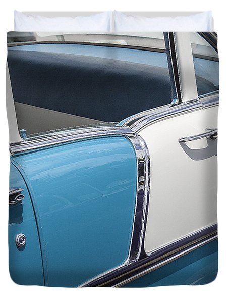 1955 Chevrolet 4 Door Duvet Cover