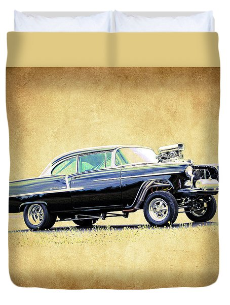 1955 Chevy Gasser Duvet Cover