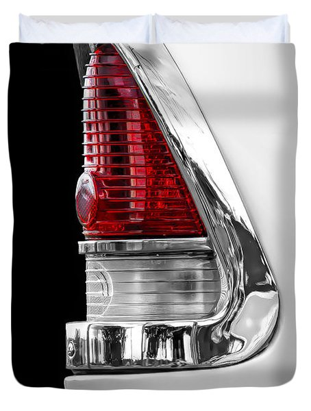 1955 Chevy Rear Light Detail Duvet Cover