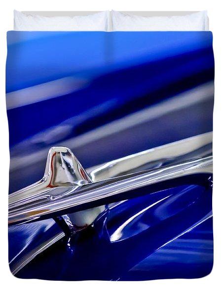 1955 Desoto Hood Ornament 3 Duvet Cover by Jill Reger