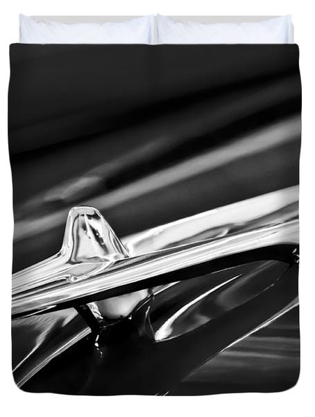 1955 Desoto Hood Ornament 4 Duvet Cover by Jill Reger