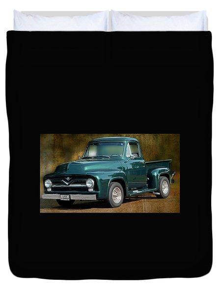 1955 Ford Truck Duvet Cover