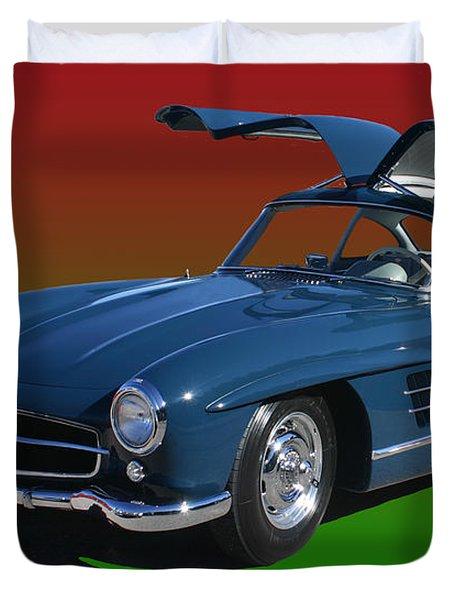 1955 Mercedes Benz 300 S L  Duvet Cover by Jack Pumphrey
