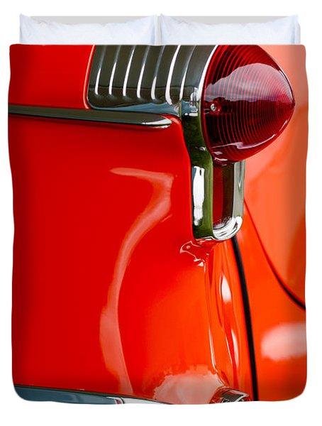 1955 Oldsmobile Taillight Duvet Cover by Jill Reger