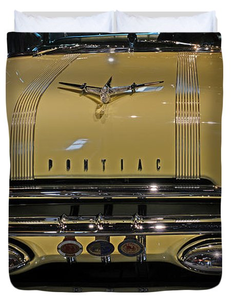 1955 Pontiac Chieftain Front Duvet Cover by Paul Ward