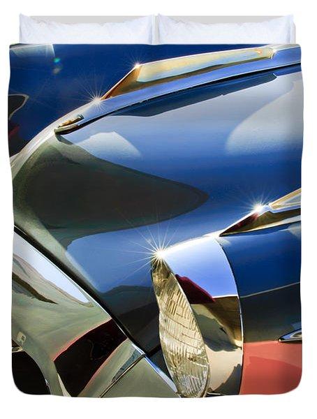 1955 Studebaker President Front End Duvet Cover by Jill Reger