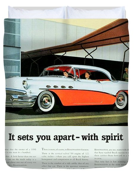 1956 - Buick Roadmaster Convertible - Advertisement - Color Duvet Cover
