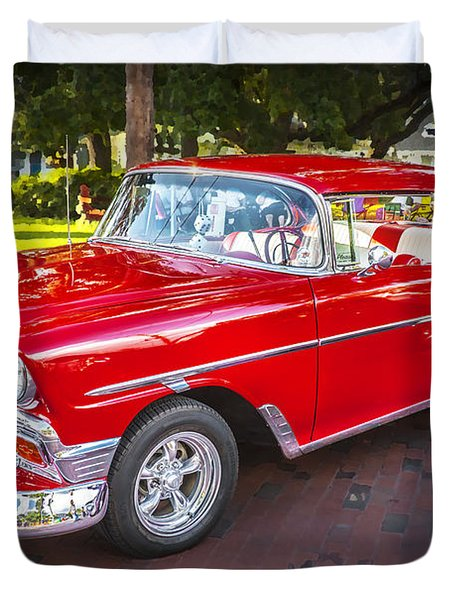 1956 Chevrolet 210 Bel Air Duvet Cover