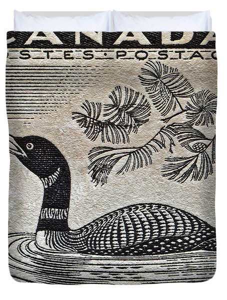 1957 Canada Duck Stamp Duvet Cover