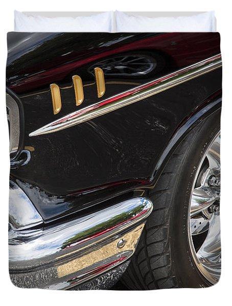 1957 Chevrolet Bel Air Beauty Duvet Cover