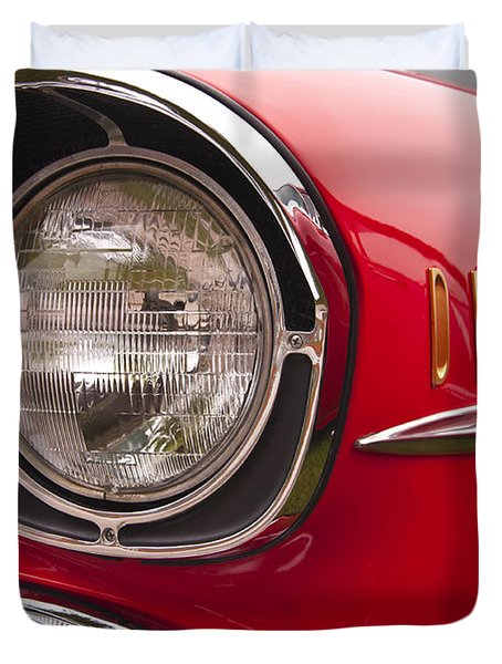 1957 Chevrolet Bel Air Headlight Duvet Cover